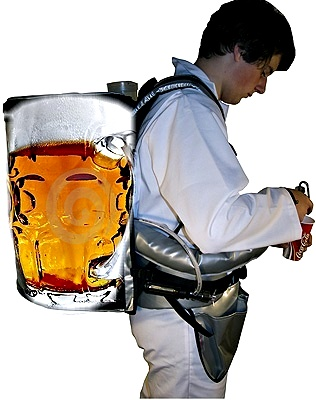 "For your catering business or your private bar we offer a large selection of high-quality beer backpacks ""Made in Germany""."