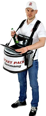 Ergonomically beer backpack designed: 90% of the backpack weight is distributed to the foam hip belt. Load stabilizer straps shift the load of the backpack to the lower back.