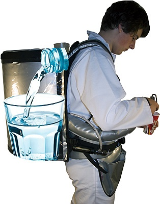 Vendor backpack for beverage