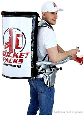 For coffee & soft drinks , The same technology and application as for Rocketpacks classic Inexpensive entry model. Practical and robust backpack.